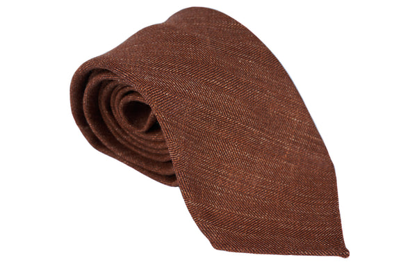 Rust Herringbone Wool