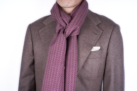 Scarf: Purple Geo