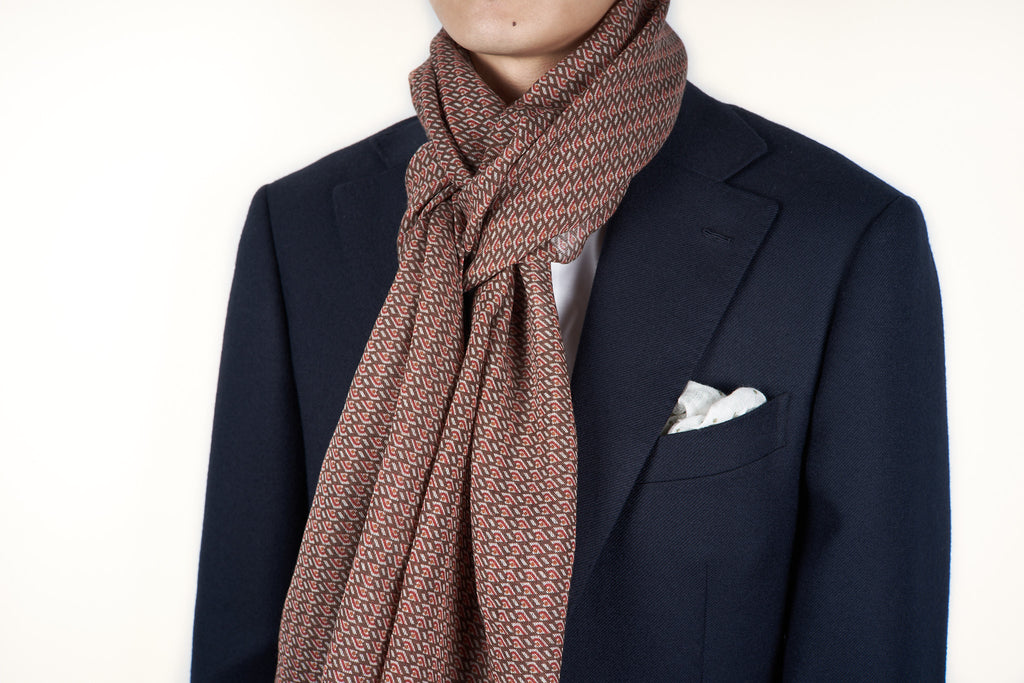 Scarf: Brown Geo