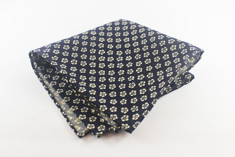 Navy Wool Flowers