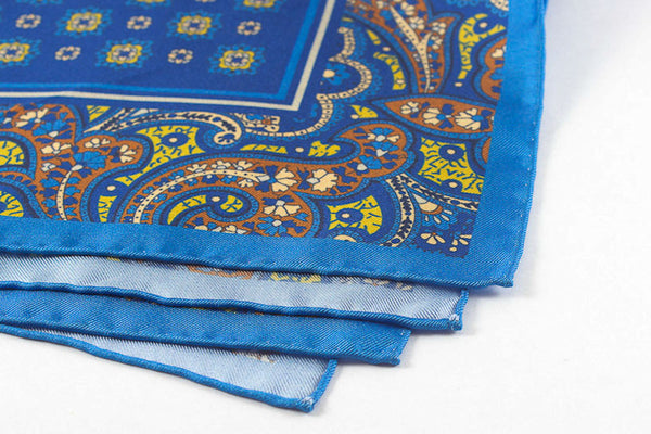 Blue Bordered Paisley