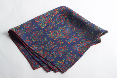 Red-Navy Medium Paisley