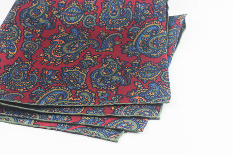 Olive-Red Medium Paisley