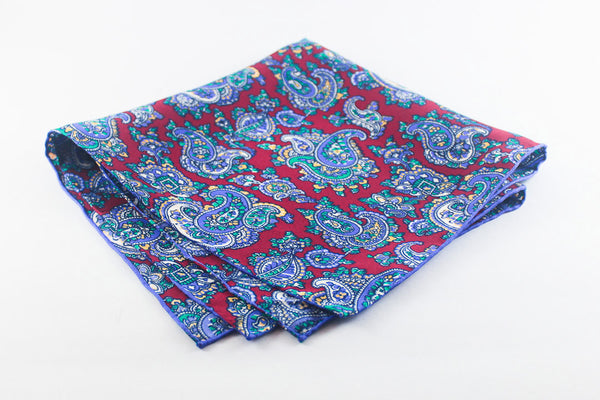 Red-Periwinkle Medium Paisley