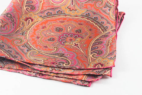 Orange-Fuschia Large Paisley
