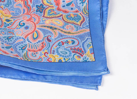 Blue-Yellow Paisley