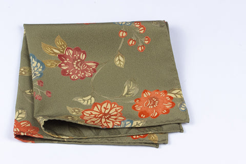 Scarf: Olive Flowers