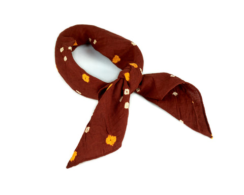 Rust Tie-Dye Neckerchief