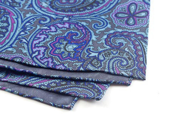 Blue-Purple Large Paisley