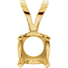 14K Gold Round Cut Solitaire Pendant Setting - Low Base Mount Style Pendant Mounting