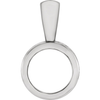 Sterling Silver Round Cut Solitaire Pendant Setting - Tribal Style Pendant Mounting