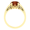 Round Cut Solitaire Ring Setting - Scroll Style - 4 Prong - 14K Gold