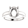 Sterling Silver Oval Cut Solitaire Ring Setting - Claw Style Ring Mounting