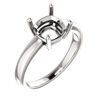 14K Gold Cushion Cut Solitaire Ring Setting - Claw Style Ring Mounting