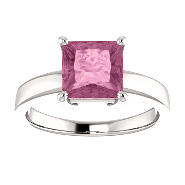 Sterling Silver Square/Princess Cut Solitaire Ring Setting - Claw Style Ring Mounting