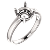 Sterling Silver Round Cut Solitaire Ring Setting - Claw Style Ring Mounting