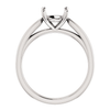 14K Gold Round Cut Solitaire Ring Setting - Tapered Style Ring Mounting