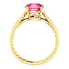 Round Cut Solitaire Ring Setting - Braided Style - 4 Prong - 14K Gold