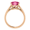 14K Gold Oval Cut Solitaire Ring Setting - Braided Style Ring Mounting