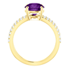 Round Cut with Diamond Ring Setting - Split-Shank Style - 4 Prong - 14K Gold