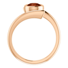 14K Gold Round Cut Solitaire Ring Setting - Modern Bypass Style Ring Mounting