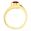 14K Gold Oval Cut Solitaire Ring Setting - Modern Bypass Style Ring Mounting