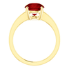 14K Gold Round Cut Solitaire Ring Setting - Modern Style Ring Mounting