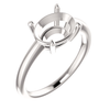 14K Gold Oval Cut Solitaire Ring Setting - Modern Style Ring Mounting
