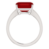 14K Gold Emerald Cut Solitaire Ring Setting - Modern Style Ring Mounting