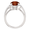14K Gold Round Cut w/ Diamond Ring Setting - Halo Bypass Style Ring Mounting