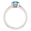 Sterling Silver Cushion Cut Solitaire Ring Setting - Modern Style Ring Mounting