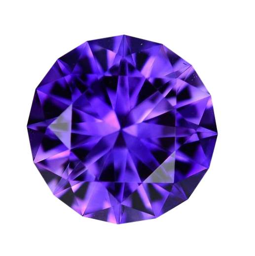 10mm Natural Vivid Purple Amethyst - Round Master Cut AAA+ - Uruguay - Extra Fine Grade - NW Gems & Diamonds