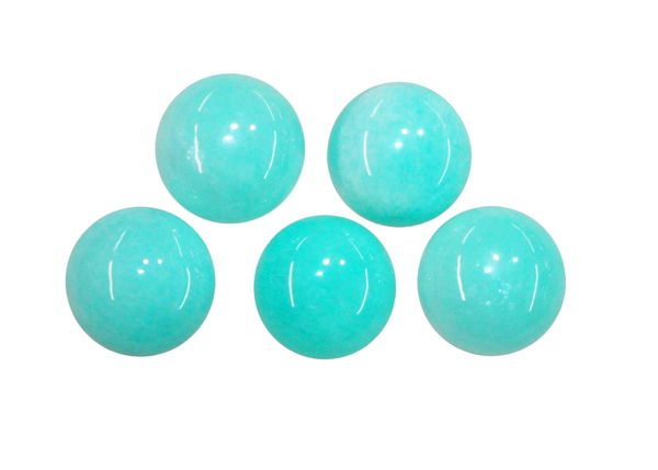 Natural Extra Fine Amazonite - Round Cabochon - AAA+ 3mm-20mm