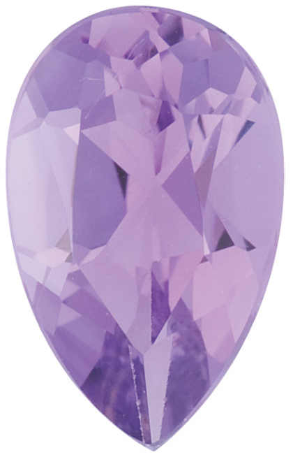 Natural Fine Lilac Violet Amethyst - Pear Shape - Brazil - Select Grade - NW Gems & Diamonds