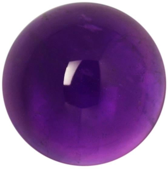 Natural Extra Fine Deep Purple Amethyst - Round Cabochon - Zambia - AAA+ Grade