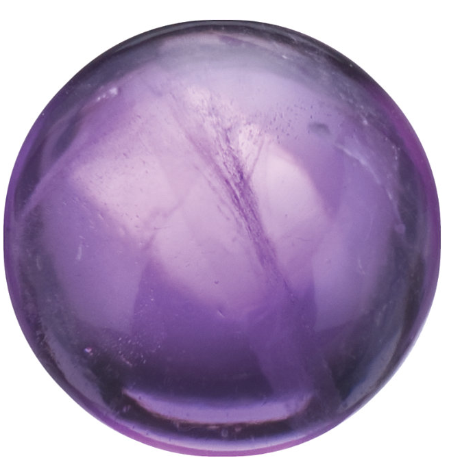Natural Fine Purple Amethyst - Round Cabochon - Brazil - AAA Grade