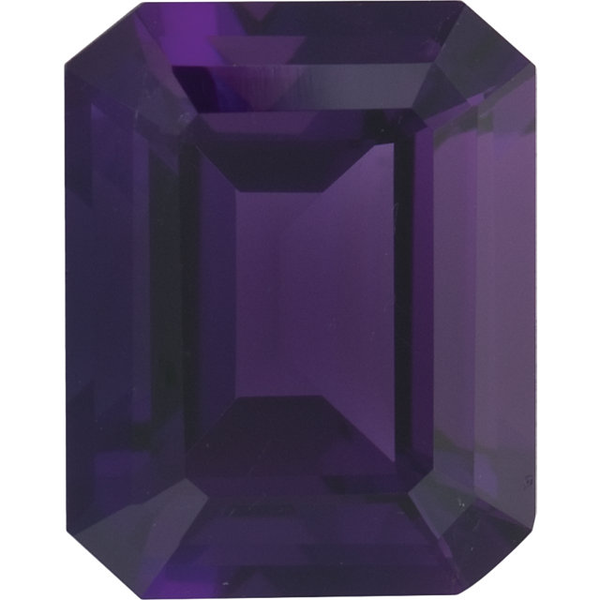 Natural Fine Deep Purple Amethyst - Emerald Cut - Brazil - Top Grade - NW Gems & Diamonds