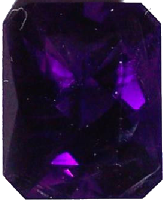 Natural Fine Deep Purple Amethyst - Emerald Cut - Zambia - Top Grade - NW Gems & Diamonds
