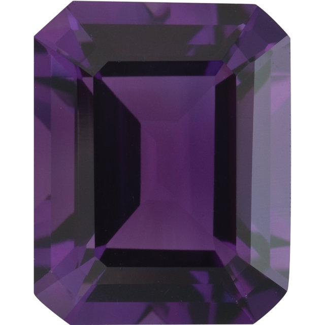 Natural Fine Royal Purple Amethyst - Emerald Cut - Brazil - Top Grade - NW Gems & Diamonds