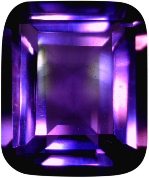 Natural Fine Vivid Purple Amethyst - Emerald Cut - Zambia - Top Grade - NW Gems & Diamonds