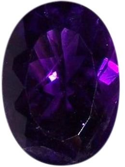 Natural Fine Deep Purple Amethyst - Oval - Zambia - Top Grade - NW Gems & Diamonds