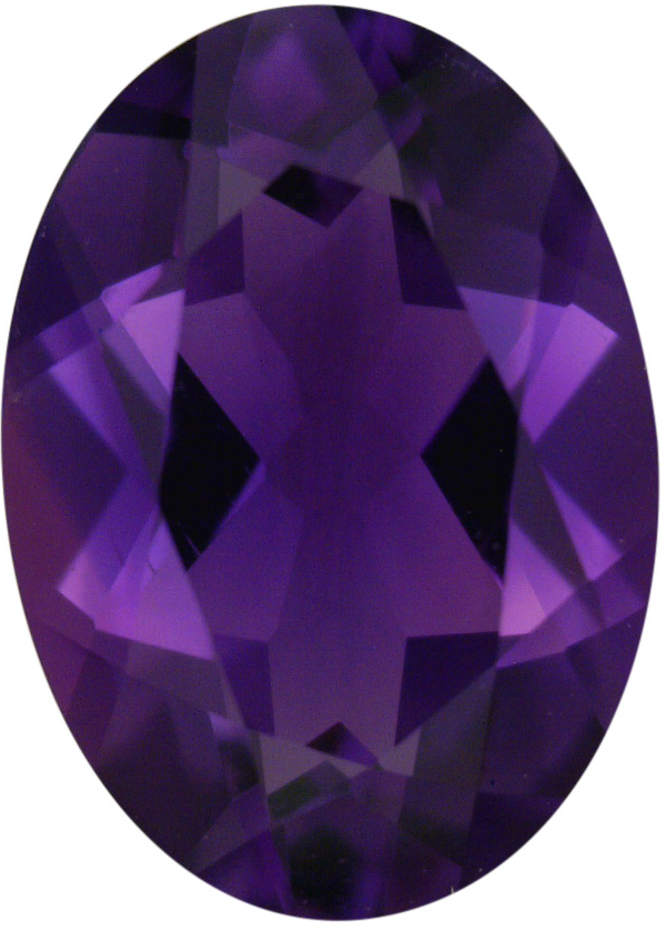 Natural Fine Vivid Purple Amethyst - Oval - Brazil - Top Grade - NW Gems & Diamonds