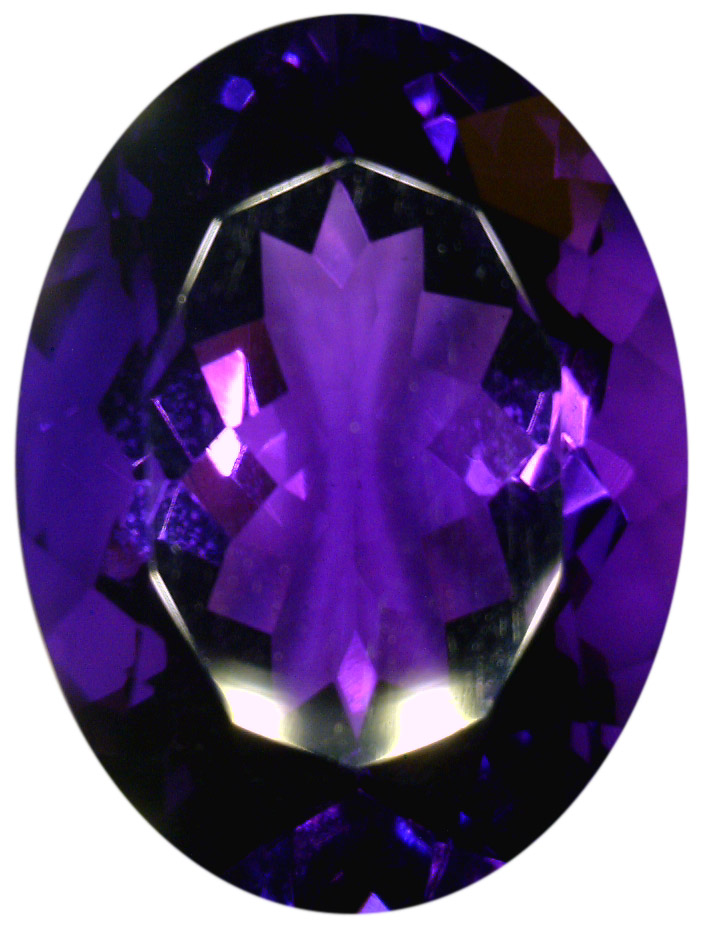 Natural Extra Fine Intense Purple Amethyst - Oval - Zambia - Extra Fine Grade - NW Gems & Diamonds