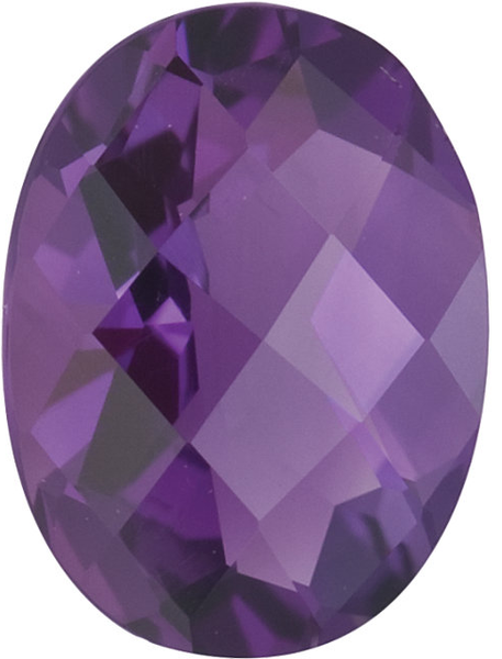 Natural Fine Purple Amethyst - Oval Checkerboard - Brazil - Top Grade - NW Gems & Diamonds