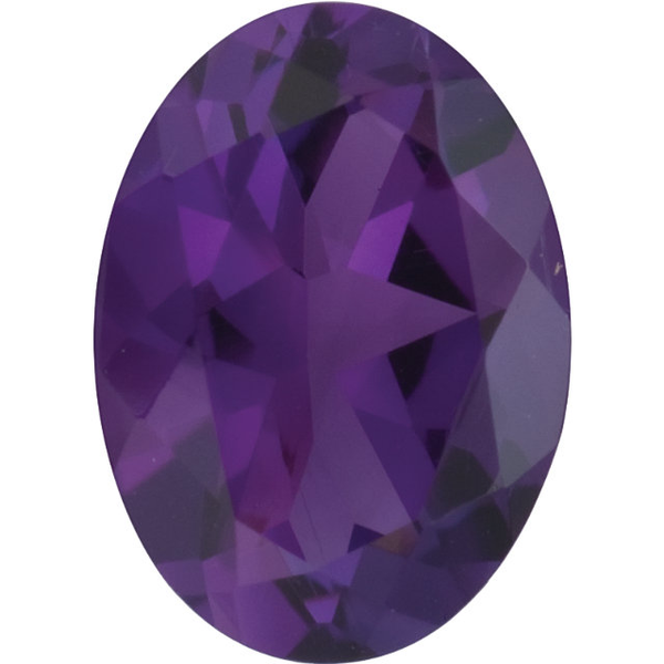 Natural Fine Deep Purple Amethyst - Oval - Brazil - Top Grade - NW Gems & Diamonds