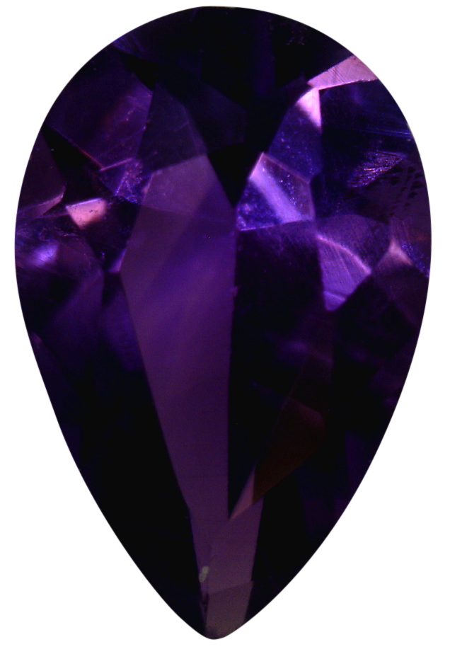 Natural Fine Deep Vivid Purple Amethyst - Pear Shape - Zambia - Top Grade - NW Gems & Diamonds