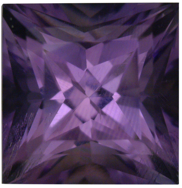 Natural Fine Vivid Purple Amethyst - Square Princess - Bolivia - Top Grade - NW Gems & Diamonds