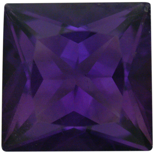 Natural Fine Deep Purple Amethyst - Square Princess - Bolivia - Top Grade - NW Gems & Diamonds