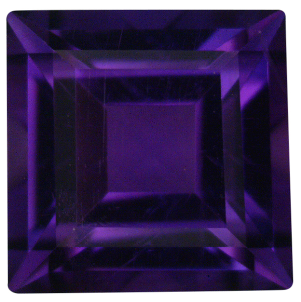 Natural Fine Deep Purple Amethyst - Square Step - Zambia - Top Grade - NW Gems & Diamonds