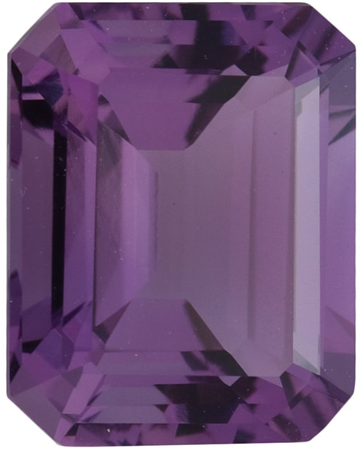 Natural Fine Rich Violet Purple Amethyst - Emerald Cut - Brazil - Select Grade - NW Gems & Diamonds